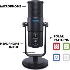 M-Audio プロ用 USB 高品質 コンデンサマイク